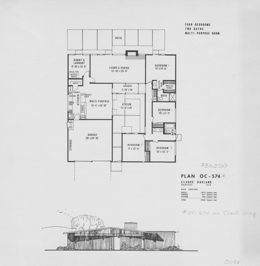 Eichler floor plans fairhills eichlersocaleichlersocal for Home design layout plan