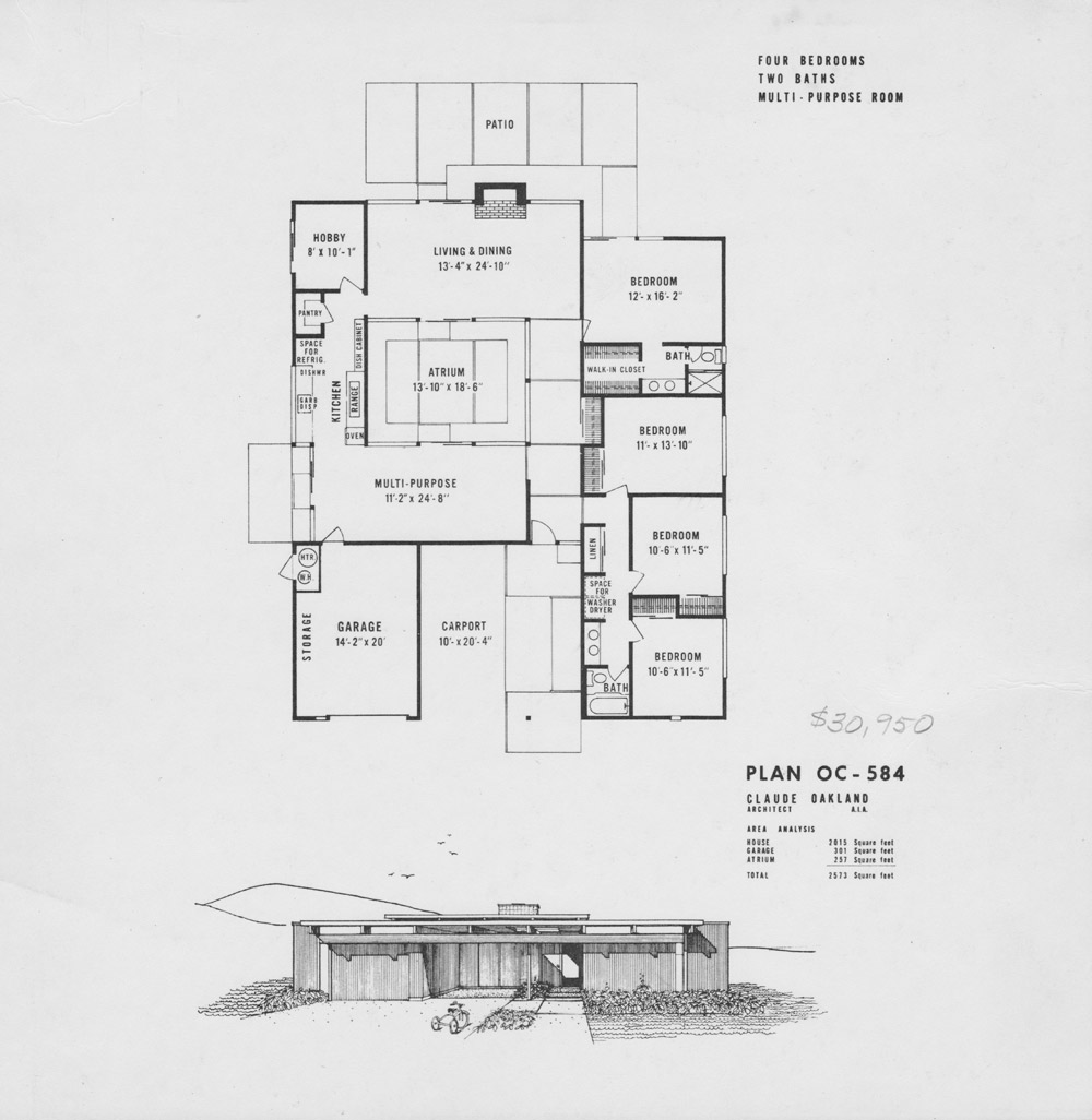 Atrium house plans on pinterest floor plans atrium Eichler atrium floor plan