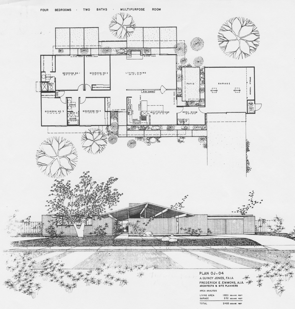 Eichler Floor Plans Fairhills on eichler atrium home floor plans