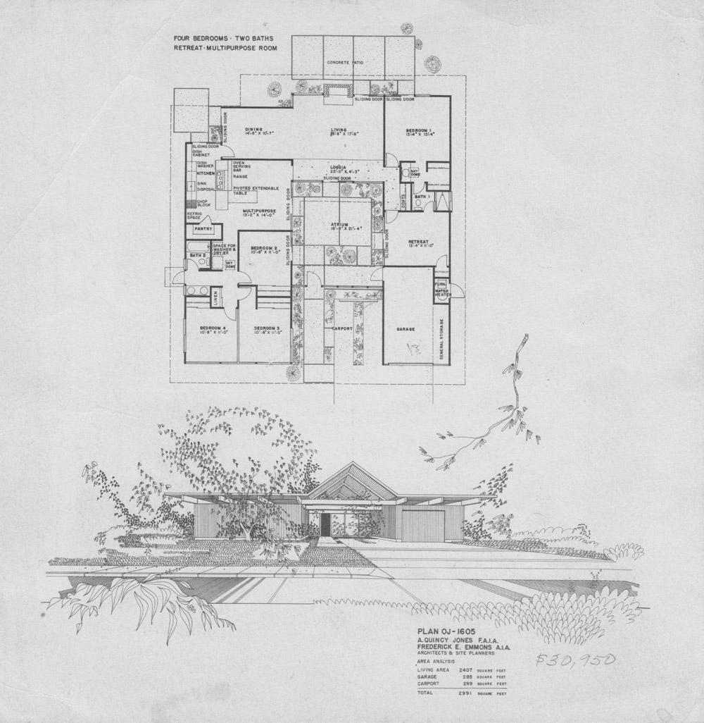 Modern house plans eichler modern house Eichler atrium floor plan