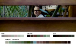 Color inspiration from A Single Man via moviesincolor.com