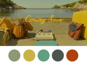 "Color palette from Wes Anderson's ""Moonrise Kingdom"" courtesy of wesandersonpalettes.tumblr.com"